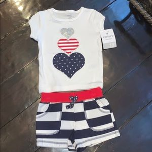 NWT Carters 2 piece patriotic set 18M